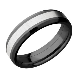 Lashbrook ZPF6B13(NS)/COBALT Zirconium Wedding Ring or Band