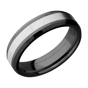 Lashbrook ZPF6B13(NS)/TITANIUM Zirconium Wedding Ring or Band