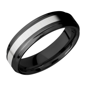 Lashbrook ZPF6B13(S)/COBALT Zirconium Wedding Ring or Band