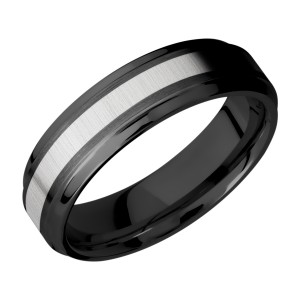Lashbrook ZPF6B13(S)/TITANIUM Zirconium Wedding Ring or Band