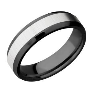 Lashbrook ZPF6B14(NS)/COBALT Zirconium Wedding Ring or Band