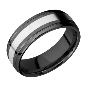 Lashbrook ZPF7B13(S)/COBALT Zirconium Wedding Ring or Band