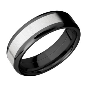 Lashbrook ZPF7B14(NS)/COBALT Zirconium Wedding Ring or Band