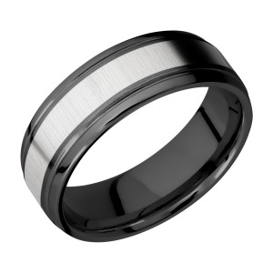 Lashbrook ZPF7B14(S)/TITANIUM Zirconium Wedding Ring or Band
