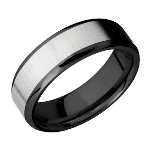 Lashbrook ZPF7B15(NS)/TITANIUM Zirconium Wedding Ring or Band