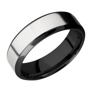 Lashbrook ZPF7HB14/COBALT Zirconium Wedding Ring or Band