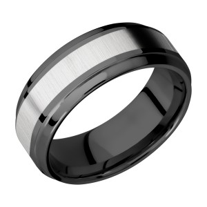 Lashbrook ZPF8B14(S)/TITANIUM Zirconium Wedding Ring or Band