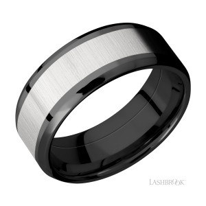 Lashbrook ZPF8B15(NS)/TITANIUM Zirconium Wedding Ring or Band