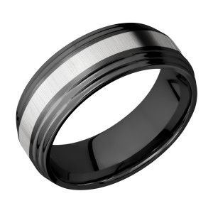 Lashbrook ZPF8F2S13/TITANIUM Zirconium Wedding Ring or Band