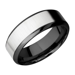 Lashbrook ZPF8HB15/COBALT Zirconium Wedding Ring or Band