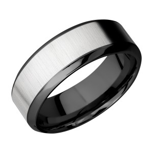 Lashbrook ZPF8HB15/TITANIUM Zirconium Wedding Ring or Band