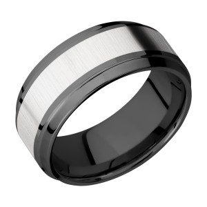 Lashbrook ZPF9B15(S)/COBALT Zirconium Wedding Ring or Band