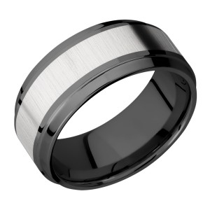 Lashbrook ZPF9B15(S)/TITANIUM Zirconium Wedding Ring or Band