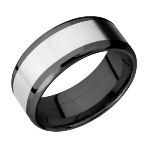 Lashbrook ZPF9B16(NS)/COBALT Zirconium Wedding Ring or Band