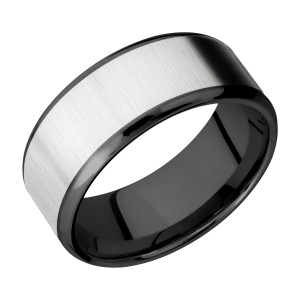 Lashbrook ZPF9B17(NS)/COBALT Zirconium Wedding Ring or Band