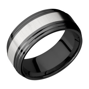 Lashbrook ZPF9F2S14/TITANIUM Zirconium Wedding Ring or Band