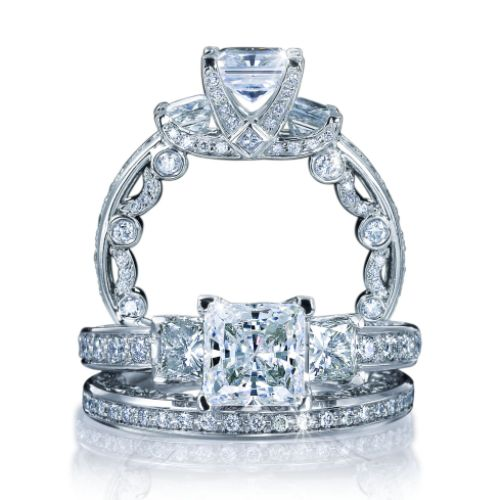 Verragio Platinum Paradiso Wedding Ring Paradiso-3007 P W