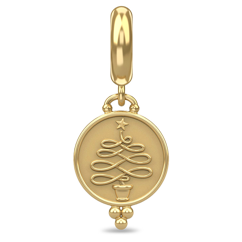 Endless Jewelry Christmas Tree Coin Gold Plated Charm 53440-2
