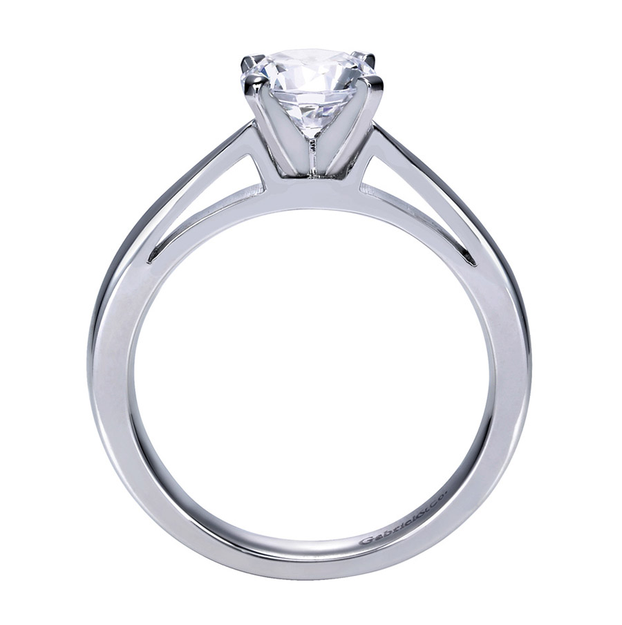 Gabriel Platinum Contemporary Engagement Ring ER8132PTJJJ Alternative View 1