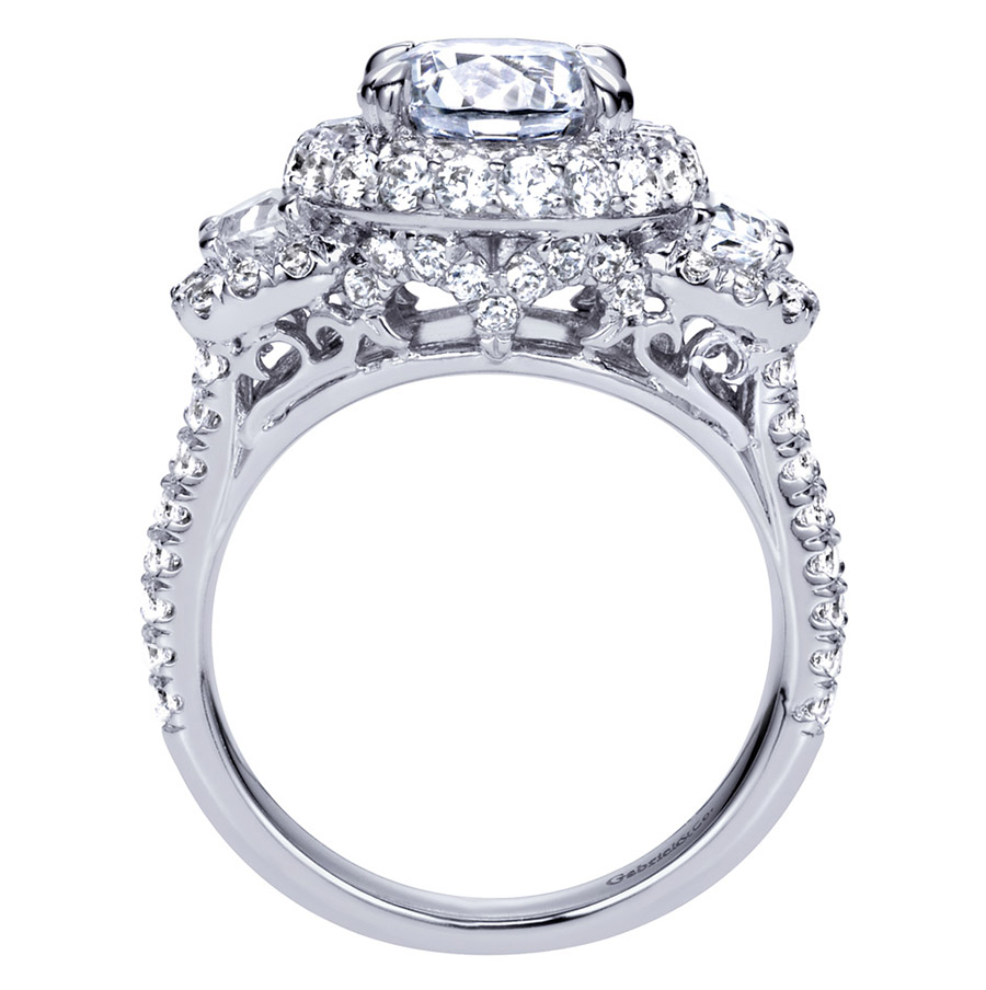 Gabriel 18 Karat Contemporary Engagement Ring ER8471W83JJ Alternative View 1