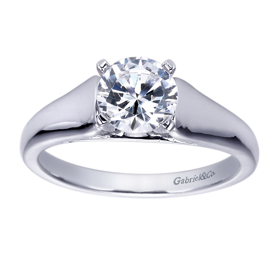 Gabriel Platinum Contemporary Engagement Ring ER8138PTJJJ Alternative View 4