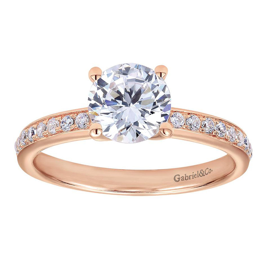 Gabriel 14 Karat Contemporary Engagement Ring ER7537K44JJ Alternative View 4