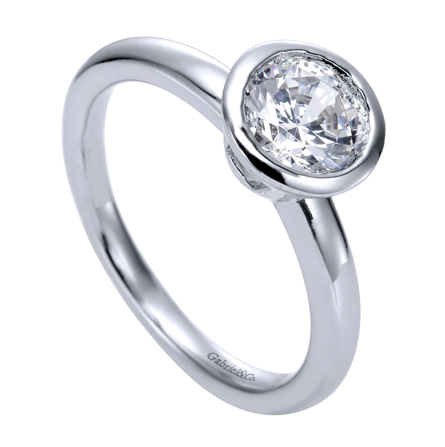 Gabriel Platinum Contemporary Engagement Ring ER8077PTJJJ Alternative View 2