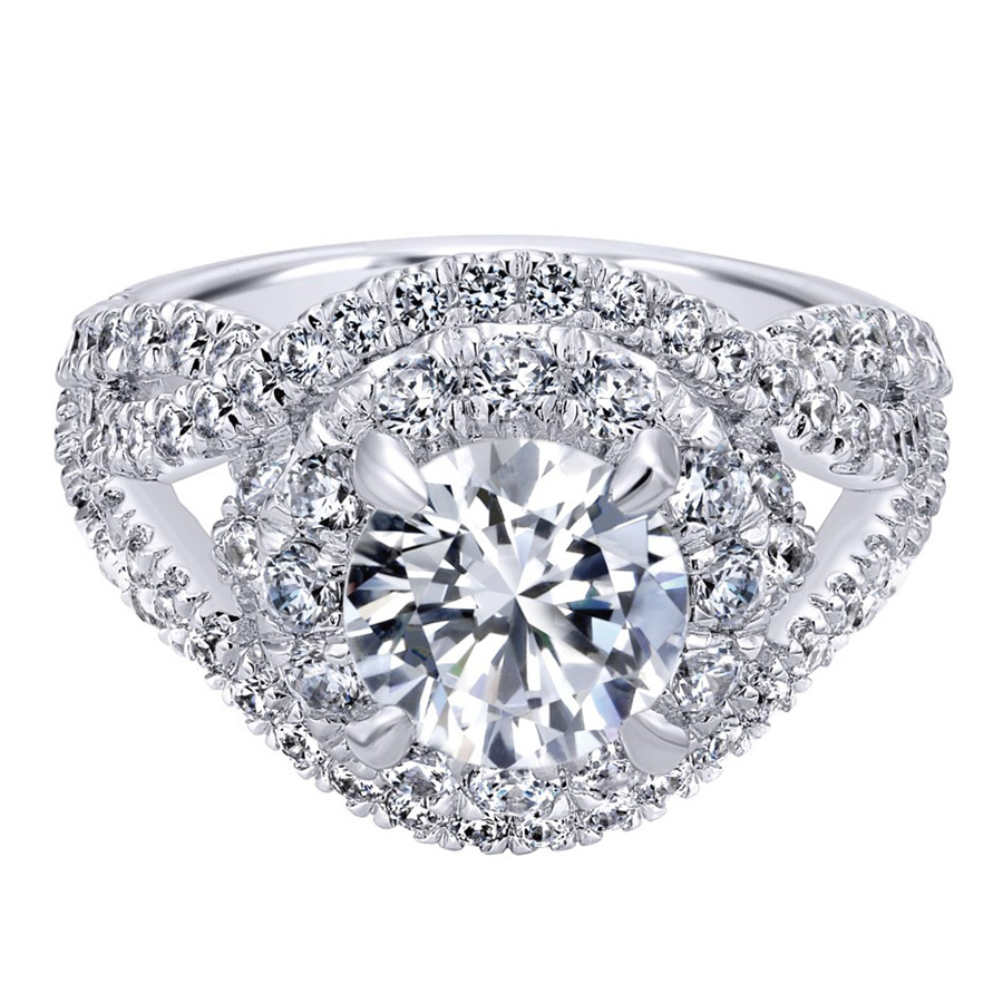 Gabriel 14 Karat Contemporary Engagement Ring ER11996R6W83JJ