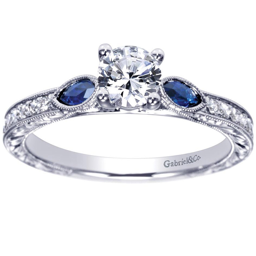 Gabriel 14 Karat Victorian Engagement Ring ER98990W44SA Alternative View 4