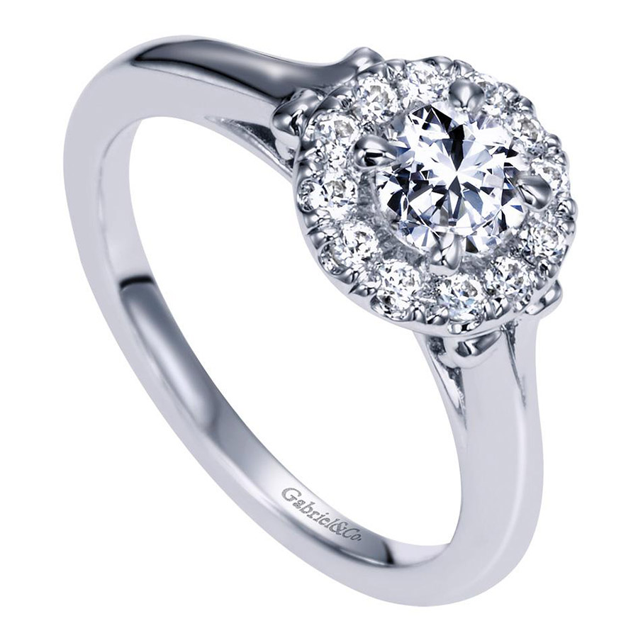Gabriel 14 Karat Contemporary Engagement Ring ER98657W44JJ Alternative View 2