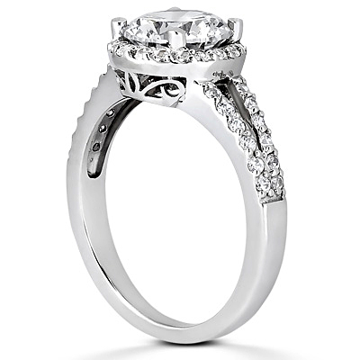 Taryn Collection Platinum Diamond Engagement Ring TQD 4278 Alternative View 2