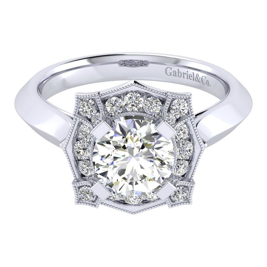 Gabriel 14 Karat Perfect Match Engagement Ring ER001C6ADW44JJ