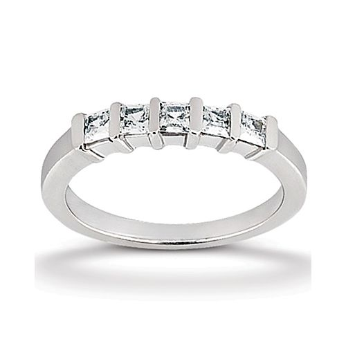 Diamond Five Stone Band Palladium Taryn Collection TQD B-7372