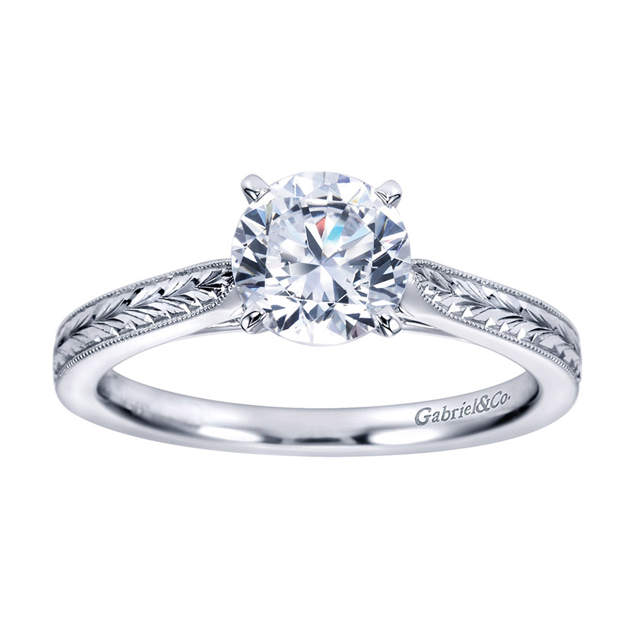 Gabriel Platinum Victorian Engagement Ring ER7223PTJJJ Alternative View 4