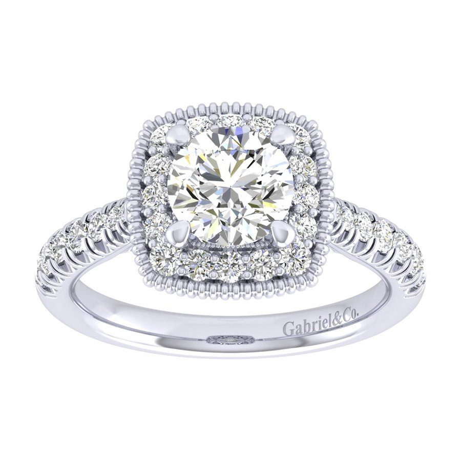 Gabriel 14 Karat Perfect Match Engagement Ring ER039B4ABW44JJ Alternative View 4