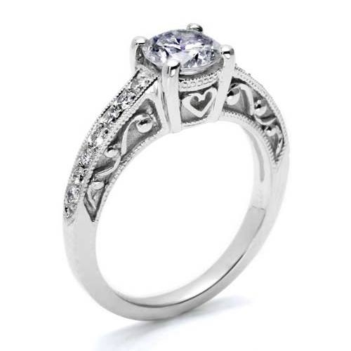 Tacori Platinum Hand Engraved Engagement Ring HT2154 Alternative View 1