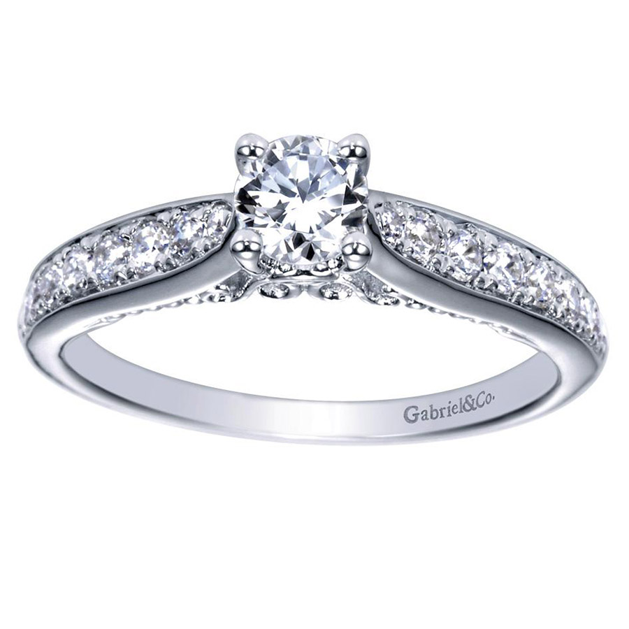 Gabriel 14 Karat Contemporary Engagement Ring ER98553W44JJ Alternative View 4