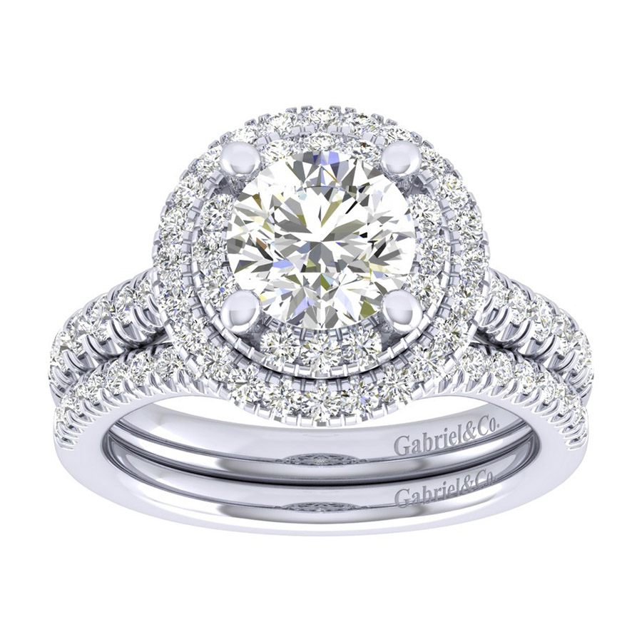 Gabriel 14 Karat Perfect Match Engagement Ring ER039C6AIW44JJ Alternative View 3