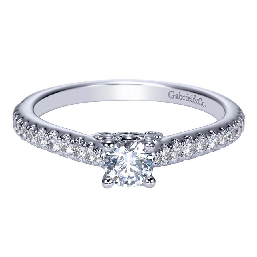Gabriel 14 Karat Contemporary Engagement Ring ER98574W44JJ