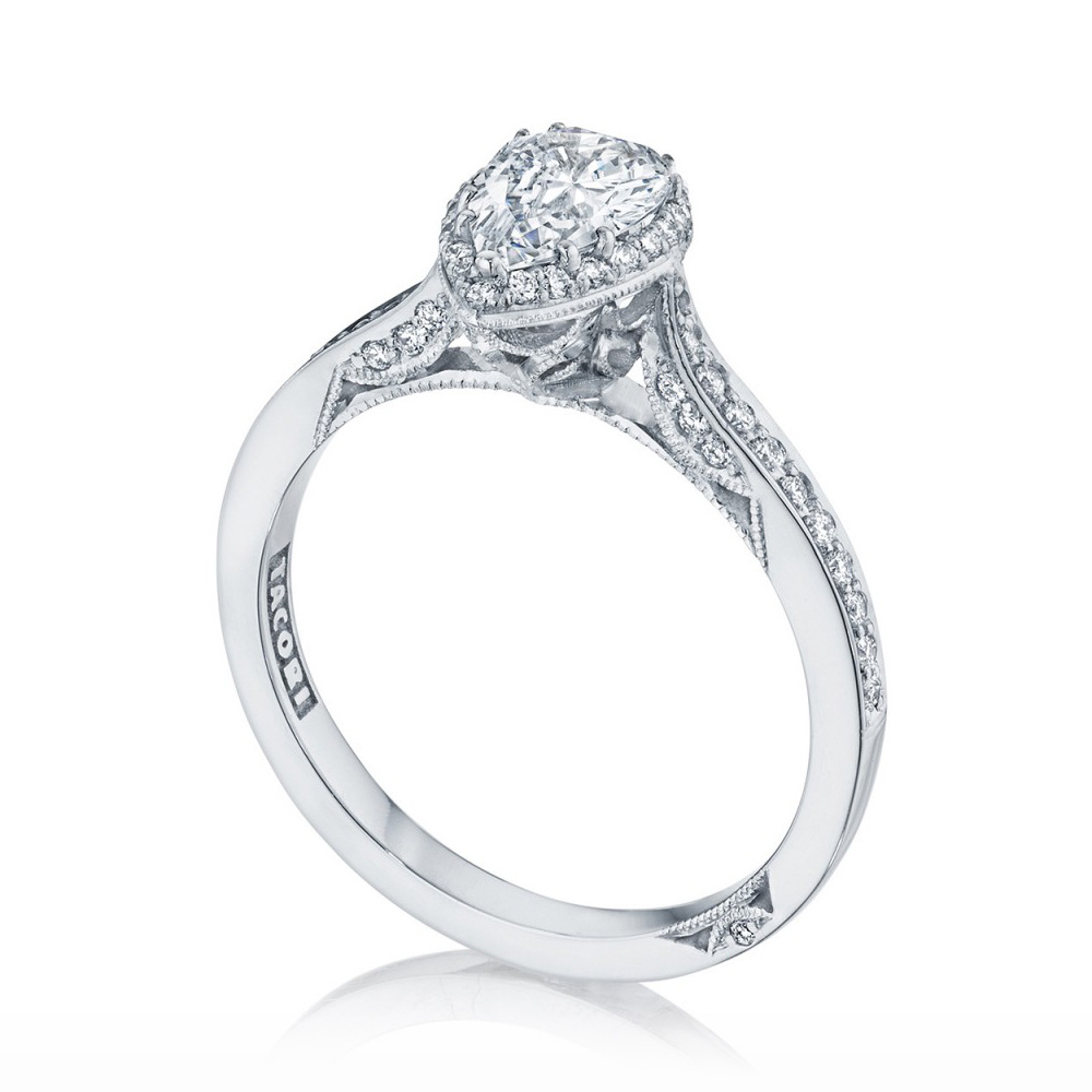 Tacori 2620PS8X5P 18 Karat Dantela Engagement Ring Alternative View 2