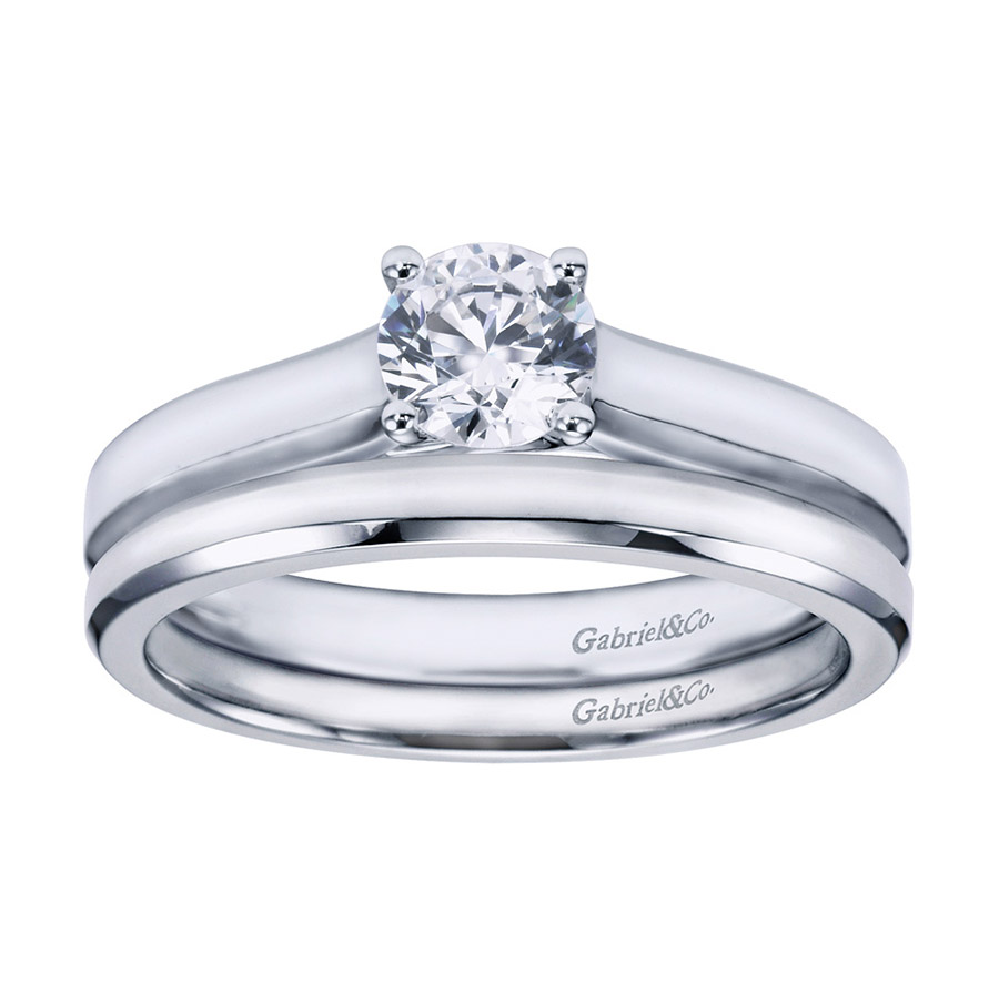 Gabriel Platinum Contemporary Engagement Ring ER6579PTJJJ Alternative View 3