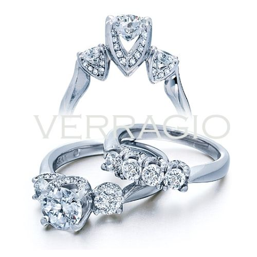 ENG-0245 Verragio 18 Karat Classico Engagement Ring Alternative View 1