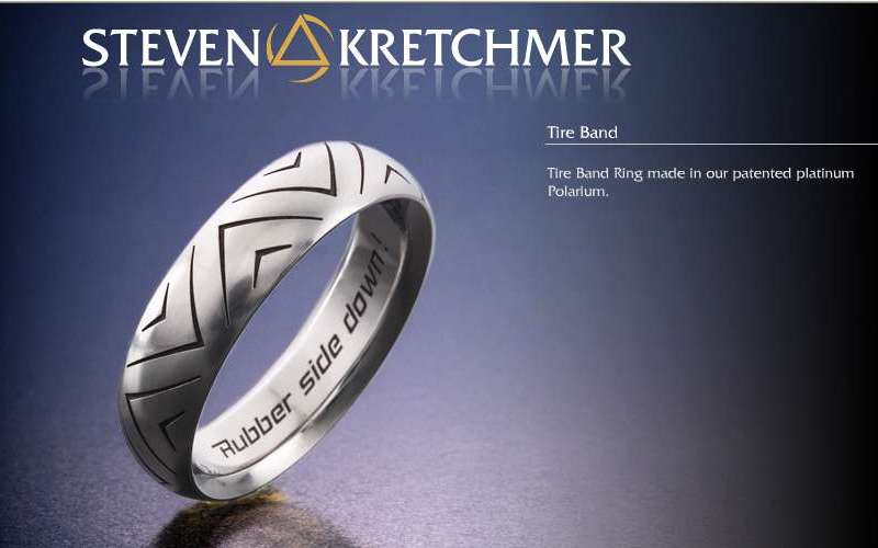 Kretchmer 18 Karat Tire Band Alternative View 1