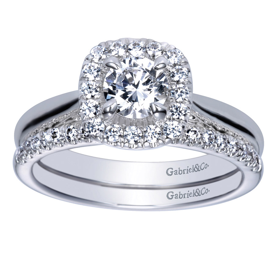Gabriel 14 Karat Contemporary Engagement Ring ER98706W44JJ Alternative View 3