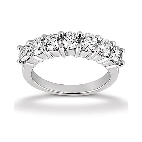 Diamond Seven Stone Band Palladium Taryn Collection TQD B-3572