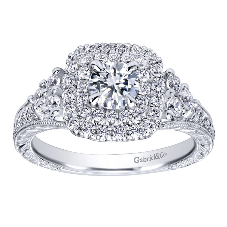 Gabriel 14 Karat Contemporary Engagement Ring ER910086W44JJ Alternative View 4