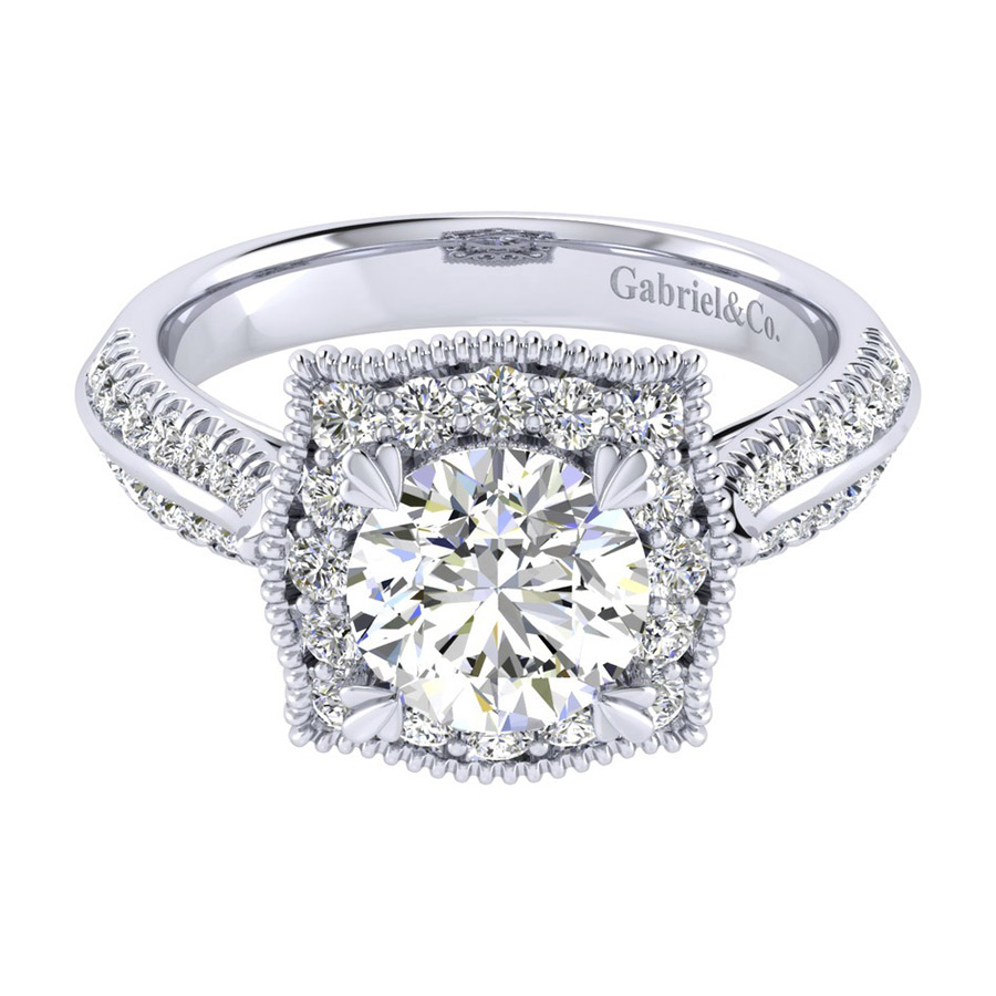 Gabriel 14 Karat Perfect Match Engagement Ring ER002C6AAW44JJ