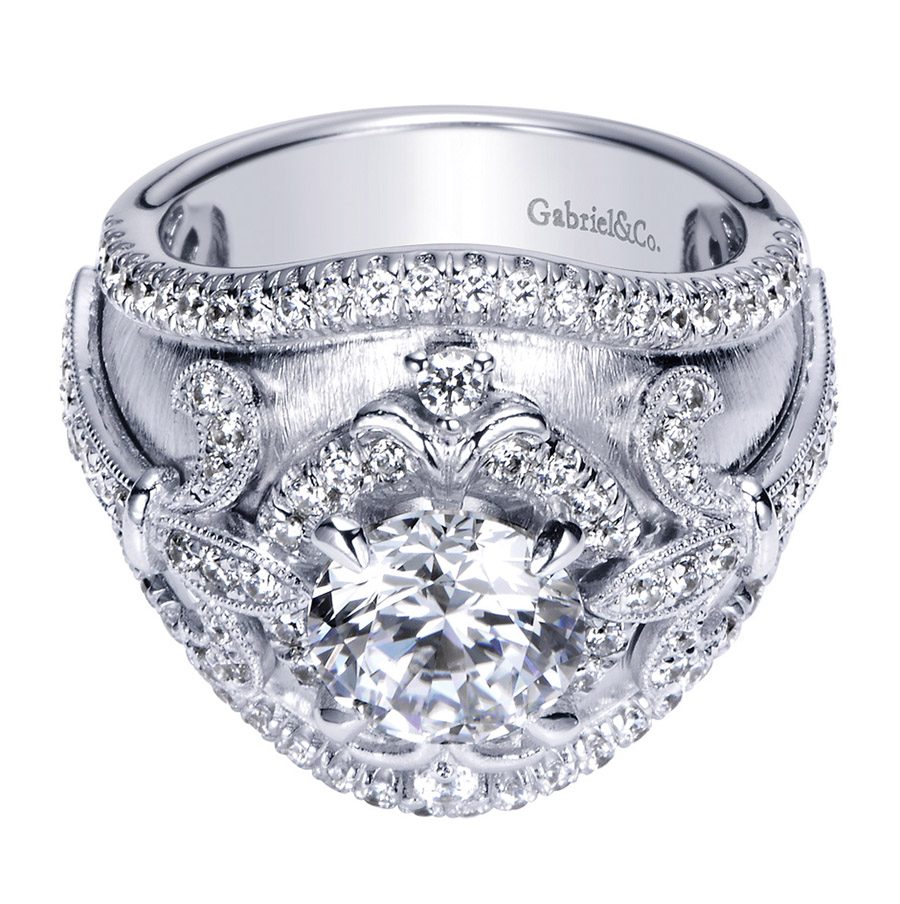 Gabriel 14 Karat Contemporary Engagement Ring ER8755W83JJ