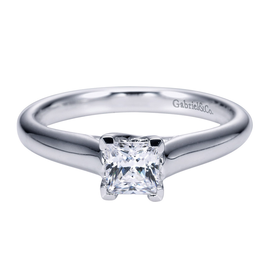 Gabriel Platinum Contemporary Engagement Ring ER6604PTJJJ
