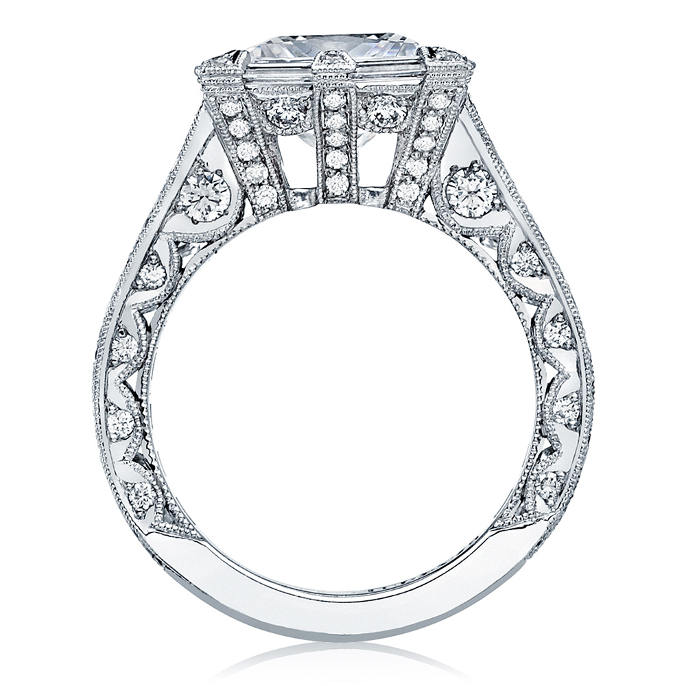 HT2601PR85 Platinum Tacori RoyalT Engagement Ring Alternative View 1